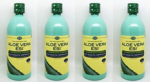 ESI ALOE Vera 1000 ml SUCCO PURO FRESCO 100% massima forza - 4 confezioni