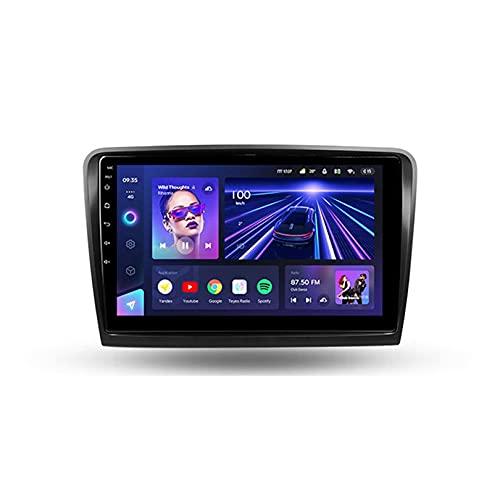 ADMLZQQ Cc3 Android NavegacióN GPS para Skoda Superb 2 B6 2008-2015 Radio De Coche Pantalla TáCtil Player Multimedia Reproductor con SWC/Dsp/Carplay/Bluetooth/Am/FM/RDS,8core WiFi+4G:4+64G