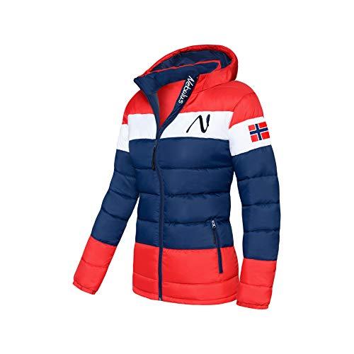 Nebulus Wattierte Jacke MIXUP Damen (Model: P4833 - Damen, blau-rot; Größe: S(36)) FBA
