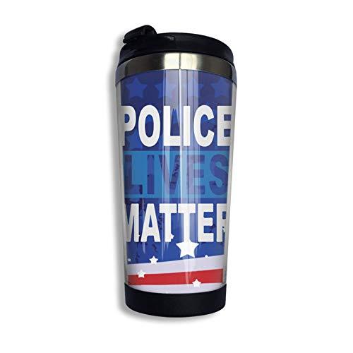 Taza De Café Police Lives Matter Con Tapa Para Té Café Taza De Café De Viaje Acero Inoxidable 400 Ml