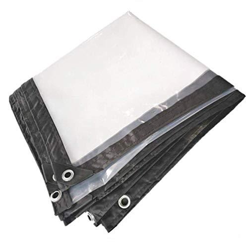 Acysac waterdichte stof van kunststof voor buiten, met rubberen sluitringen en versterkte randen, waterdicht dekzeil multifunctioneel, 4 x 8 m
