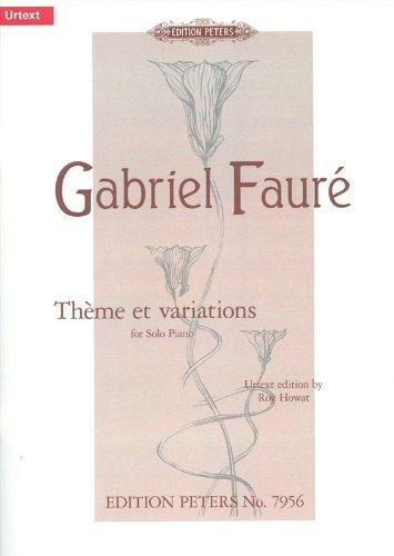 Thème et variations cis-Moll op. 73 (1896) -für Klavier-mit Notenklammer [Musiknoten]