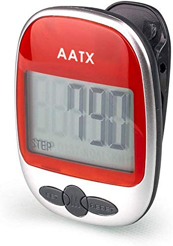 AATX Best Pedometer for Walking Accurately Track Steps Portable Sport Pedometer Step/Distance/Calories/Counter Fitness Tracker, Calorie Counter