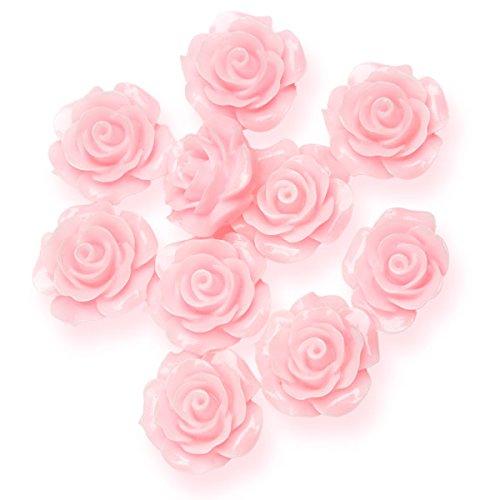 Club Vert Résine Rose Fleur, Rose, 20 mm, Lot de 6