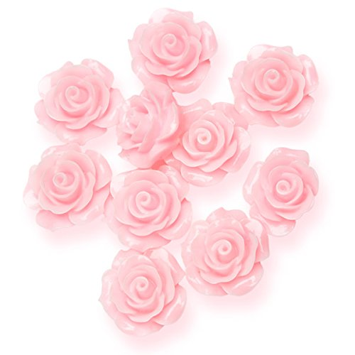Club Green - Rosas de Resina, 20mm, 10en Cada Paquete, Color Rosa