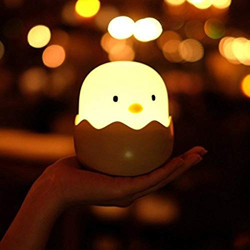 Ei nachtlampje USB Kinderen Dierlijke Nachtlampje Siliconen Zachte Touch-Licht Cartoon Baby Kwekerij Lamp Ademhaling LED Nachtlampje