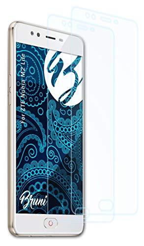 Bruni Schutzfolie kompatibel mit ZTE Nubia M2 Lite Folie, glasklare Bildschirmschutzfolie (2X)