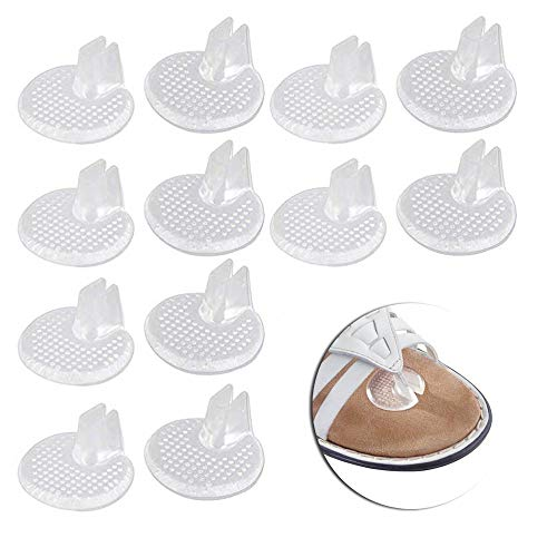 Gel Sandale Zehentrenner, 12 Stück Weiche Flip Flop Gel Zehenschutz, Vorfuß Pads für Flip Flops, für Den Persönlichen Fußpflege Zehenschutz Sandalen Flip Flop Zehenschutzkissen