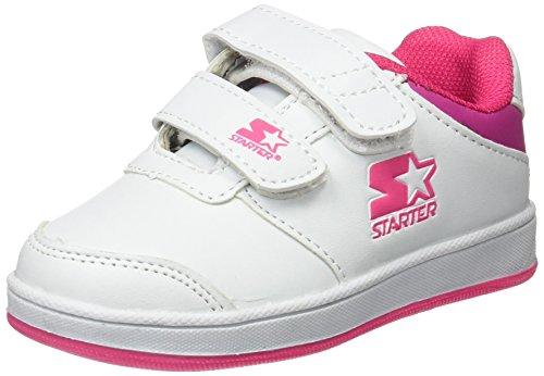 STARTER Lena, Chaussures de Naissance Mixte bébé, Blanc (Blanc/Rose), 24 EU