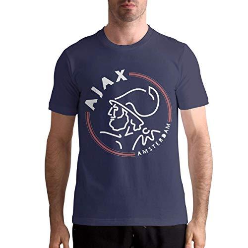 ANGSHI6 Camisa de Hombre AFC AJAX Amsterdam Club Mens Custom Short Sleeve Tees