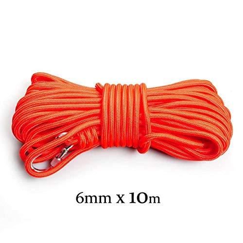 Yener Outdoor Kletterseil Stärke Rescue Rope Survival Tool mit Haken, 6mmx10M