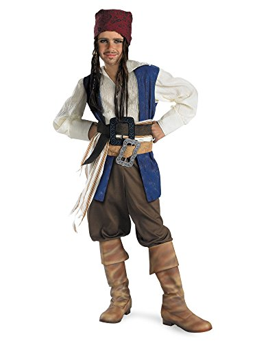 Disguise Disney Pirates Of The Caribbean Captain Jack Sparrow Classic Boys Costume, Small/4-6