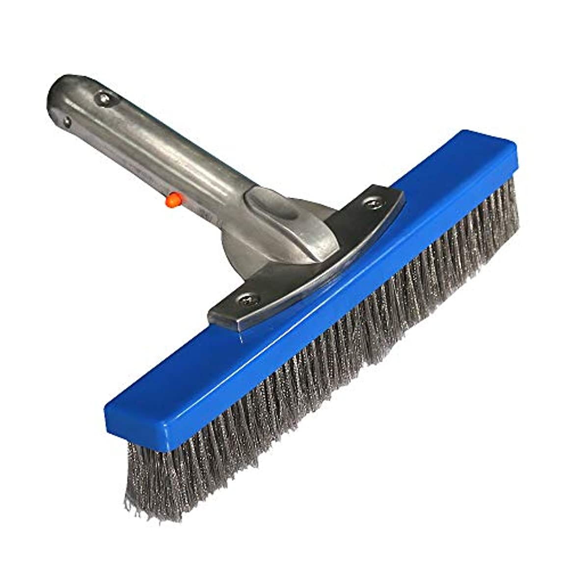 Daveyspa 10''Swimming Pool Brush Stainless Steel Wire Brush for Walls,Tiles & Floors Curved Cleaning Brushes.