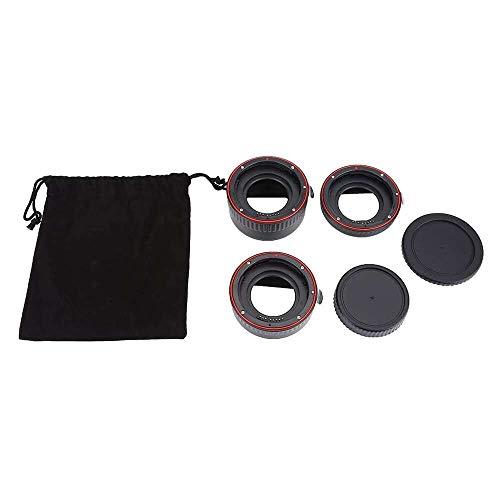 Yuyanshop Juego de tubos de extensión de lente macro para enfoque automático AF macro anillo de 13 mm, 21 mm, 31 mm para lentes de montura EOS EF EF-S Series DSLR Cámara 5D 7D 500D 600D 700D