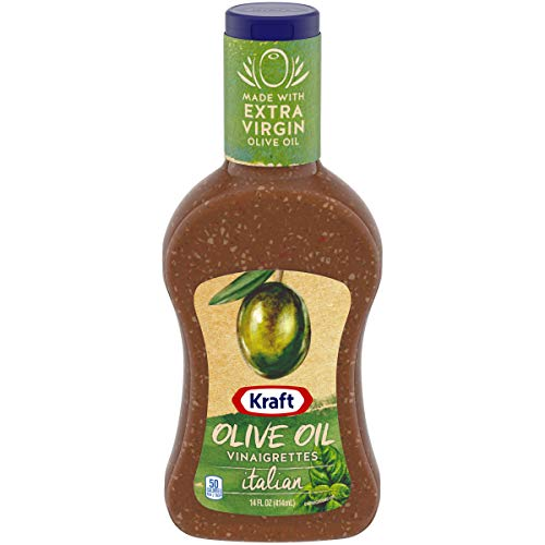 Kraft Olive Oil Italian Vinaigrette Salad Dressing (14 oz Bottle)