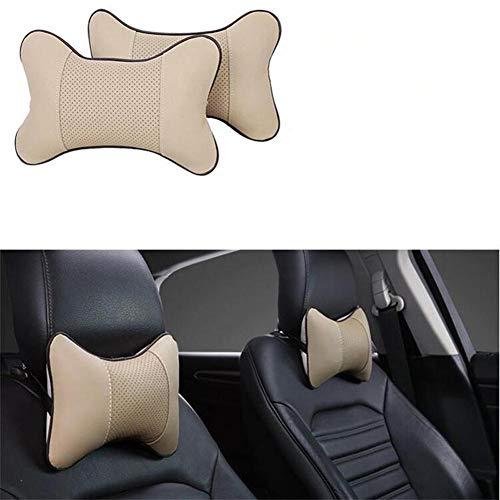 NUIOsdz Almohada para el Cuello del reposacabezas del Coche cojín del Asiento Audi A4 Avant A4 Cabriolet A6L A8L TT TTS Cualquier Coche R A3 Almohada para el Cuello de Tres Puertas A8 A3 A4