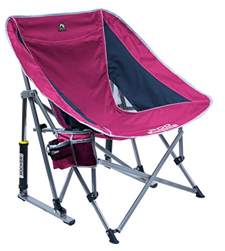 GCI Outdoor Pod Rocker Chair (Raspberry/Navy)
