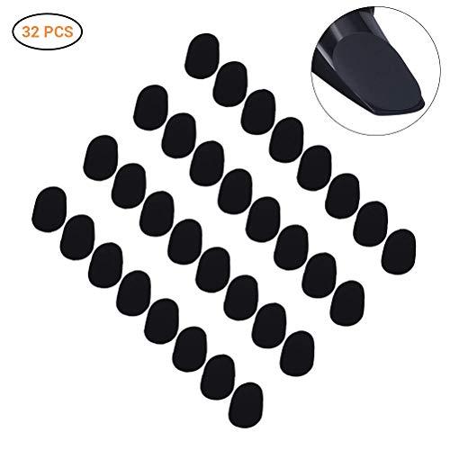 Schimer 0.8mm Zwart Type 1 Ovale Vorm Mondstuk Patches Pads Kussen, Alto Saxofoon Mondstuk Patches Pads Kussen voor Saxofoon Clarinet Alto Saxofoon 32 Stuks