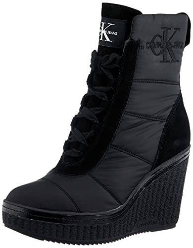 Calvin Klein RE9774BLK, Zapatillas Mujer, Black, 38 EU