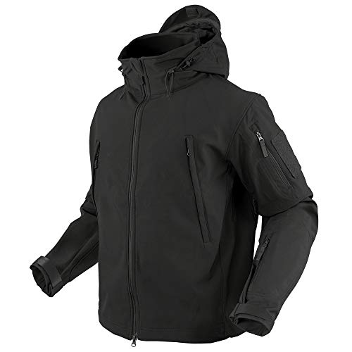 Condor Summit Soft Shell Tactical Jacket, Color Black, Size Large
