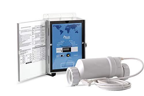 BLUE WORKS Saltwater Generator Chlorinator BLH20 Compatible with Hayward Goldline Aquarite System Plumbing for 15K Gallon Pool | 2-Year Full USA Warranty | Cell Plates Made by USA Manufacturer(White)