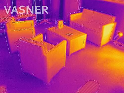 VASNER StandLine Mini 12 Infrarot Stand-Heizstrahler – schwarz – 1200 Watt mit Thermostat, Infrarotstrahler für überdachte Terrasse Außenbereich - 9