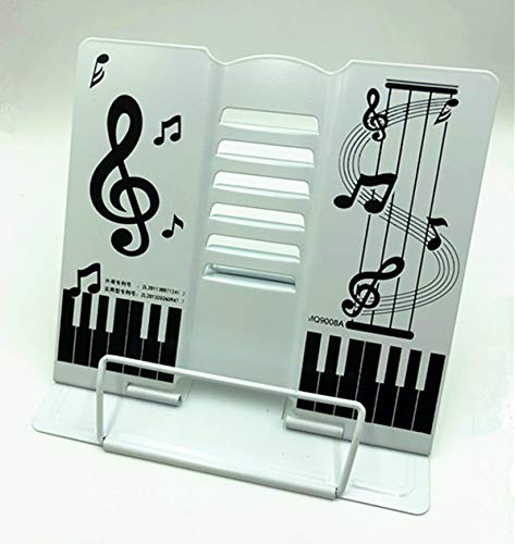 【TSUCIA】かわいい折りたたみ卓上の譜面台 書見台としても 角度調節可能 (白)