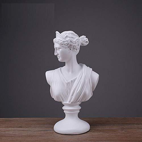 LOSAYM Estatuas para Jardín Esculturas Y Estatuas De Jardín Busto Escultórico De Resina De Mármol Busto Escultórico De Resina Mitología Griega Accesorios para El Hogar