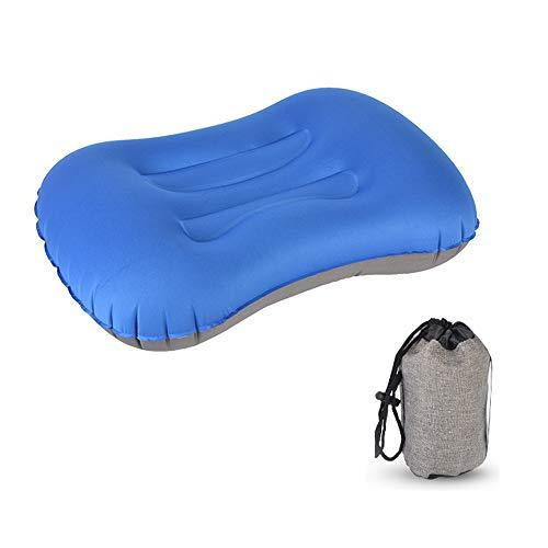 XFCS Opblaasbaar hoofdkussen camping kussen reiskussen, nekkussen, ergonomisch opblaasbaar kussen ter ondersteuning van camping, vakantie, reizen, outdoor