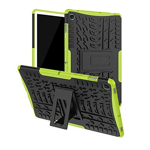 Kybers Coque Rigide Hybride en Caoutchouc et Polycarbonate pour Samsung Galaxy Tab S5e 10.5 2019 T720 T725, Mixte, Vert