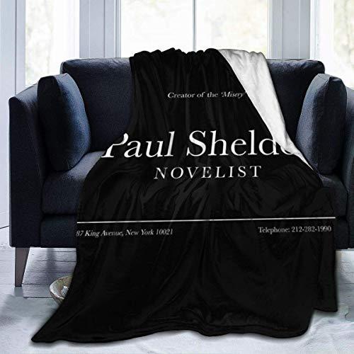 haoqianyanbaihuodian Misery Paul Sheldon Busin - Manta de franela de forro polar, ligera, ultra suave, cálida, para sofá