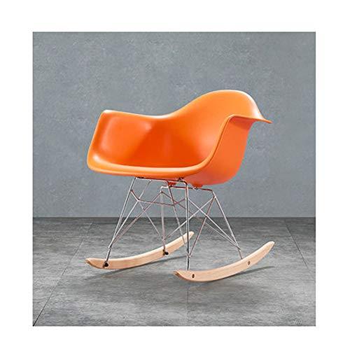 Balkon schommelstoel volwassen moderne minimalistische Scandinavische vrije tijd volwassen massief hout schommelstoel luie dutje lounge stoel stijlnaam Large 2