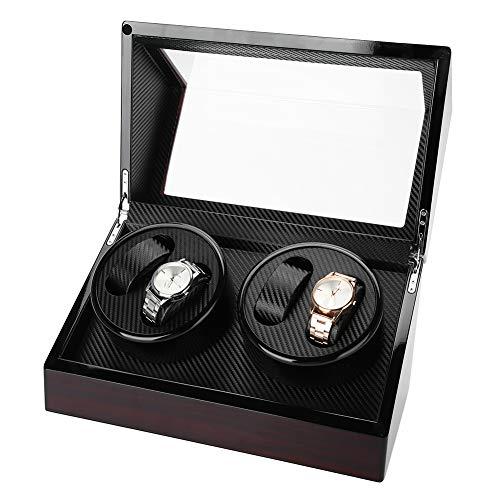 LXYFC Automático Watch Winder Winder Automaty Watch, Watch Winder Caja A Prueba De Polvo para 4 Relojes Automáticos Pantalla De Almacenamiento