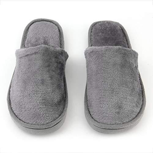 NewIncorrupt Plantilla de Goma Transpirable Felpa Interior casa casa Mujeres Hombres hogar Zapatos Antideslizantes Suela Suave cálido algodón silencioso Zapatilla Adulta