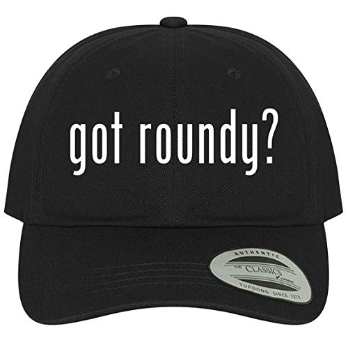 The Town Butler got Roundy? - A Comfortable Adjustable Dad Baseball Hat, Black, One Size