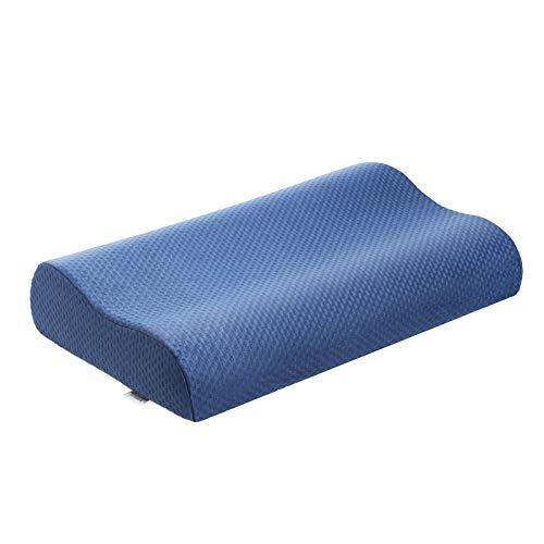 Wemk Almohada Cervical, Almohada Viscoelastica para Reduce Dolores Cervicales, Almohada Ergonómica para Dormir en Diferentes Posturas (Lado, Espalda o Estómago) - con Funda de Extraíble y Lavable