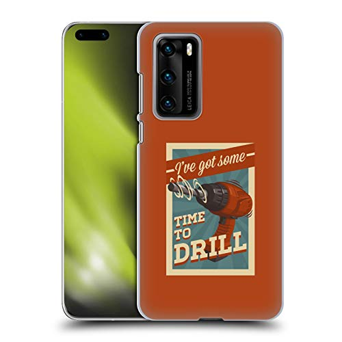 Head Case Designs Officially Licensed Lantern Press Time to Drill Man Cave Hard Back Case Compatible with Huawei P40