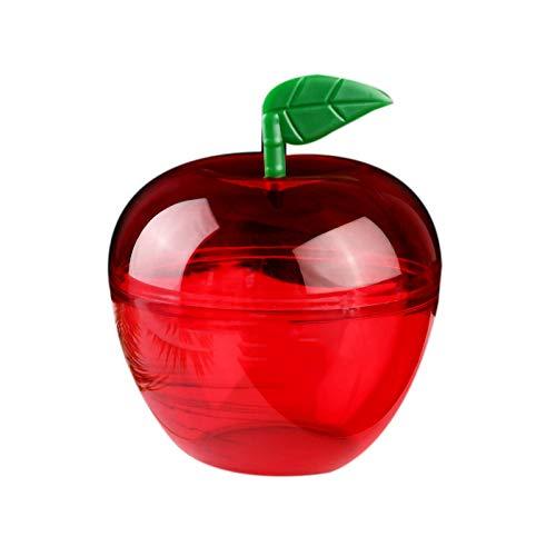 Runtodo 20PCS Preferencia de Banquete de Boda Contenedor de Manzana Juguete Relleno PláStico en Forma de Manzana Caja de Dulces CumpleaaOs/DecoracióN de Boda