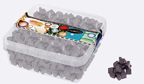 Salzige Lakritz Kubuse - zuckerfrei - in einer praktischen AromaFrischeNaschbox 1kg - Deine Naschbox.