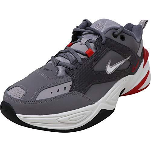 Nike Men's M2K Tekno Gunsmoke/Summit White/Natural Heather Synthetic Cross-Trainers Shoes 11.5 M US