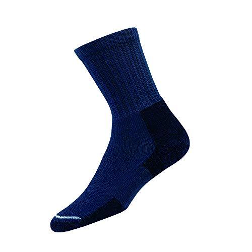 Thorlos Unisex KX Hiking Thick Padded Crew Sock, Dark Blue, Large