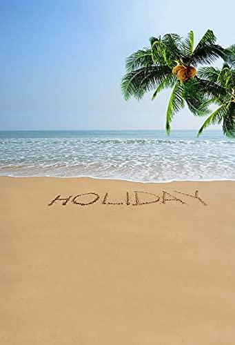 Fondo de Playa Tropical Junto al mar Verano Boda bebé cumpleaños Despedida de Soltera Fiesta Foto telones de Fondo Accesorios A1 7x5ft / 2,1x1,5 m