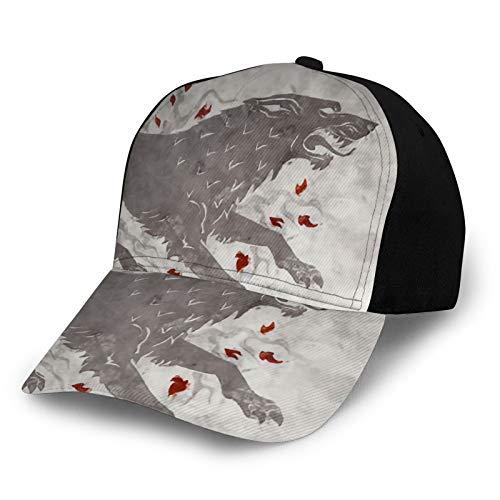 Yoohome Game of Th-Rones Snapback - Gorras de moda casuales para correr, caza, camping, ciclismo, pesca, deportes al aire libre, color negro
