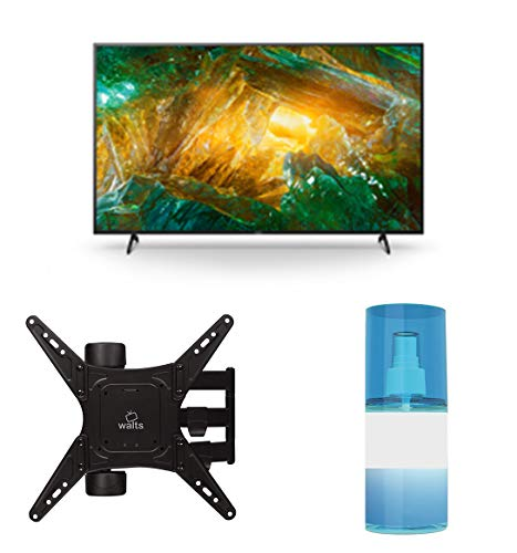 "Sony XBR-55X800H 55"" 4K Ultra High Definition HDR LED Smart TV with a Walts TV Medium Full Motion Mount for 32""-65"" Compatible TV's and Walts HDTV Screen Cleaner Kit (2020)"