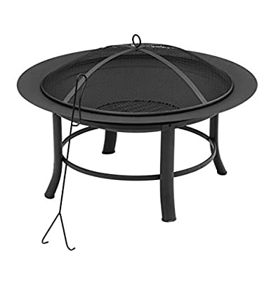 """Mainstay' Fire Pit, 28"""" Includes a Spark Guard Mesh Lid with Lid Lift (1)"""