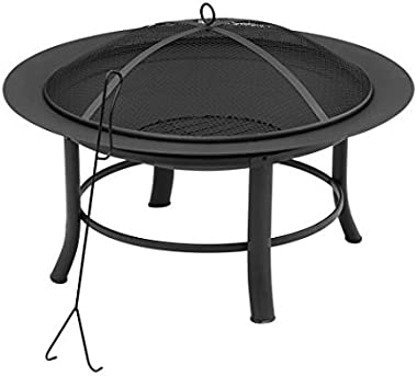 "Mainstay' Fire Pit, 28"" Includes a Spark Guard Mesh Lid with Lid Lift (1)"