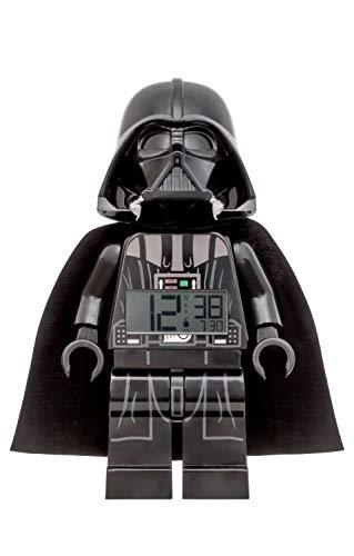 Wecker Lego Star Wars Darth Vader, digitales LCD Display mit Hintergrundbeleuchtung, Weck- und Schlummerfunktion, ca. 24 cm