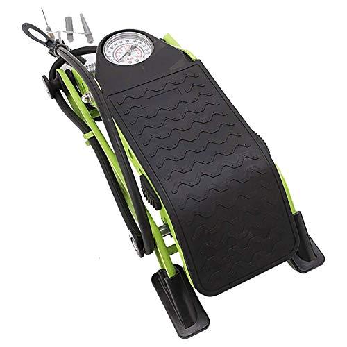 ZBQLKM Bomba de pie de bicicleta de cilindros, bomba de aire del piso de ciclismo, con calibre de presión preciso se ajusta a las válvulas de Presta y Schrader, bomba de aire de alta presión de alta p
