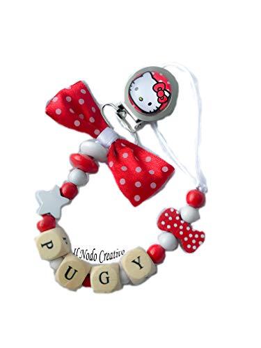 Schnuller Kette Hello Kitty | anpassbare Name