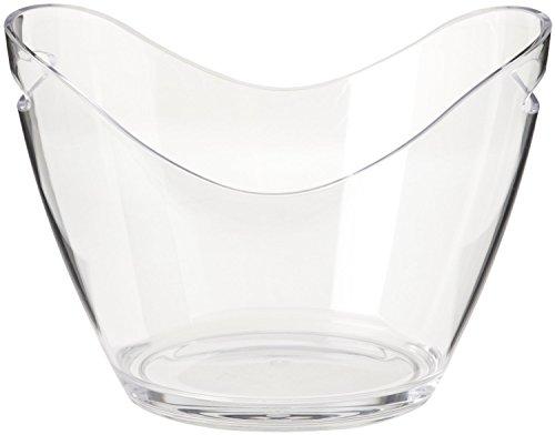 Co-Rect Acrylic 2 Bottle Ice Bucket, Clear